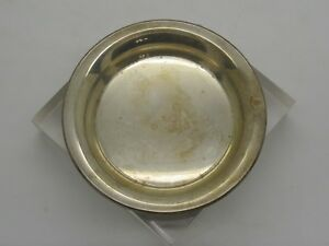 Vintage Baldwin Miller B M Sterling Silver 925 Butter Dish Round Tray 21g