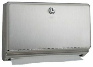 Bobrick B26212 Classic Series Stainless Steel Wall Mounted Paper Towel Dispenser