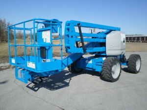 2007 Genie Z45 25 Articulating Boom Lift Manlift Z boom Aerial Knuckle Boomlift
