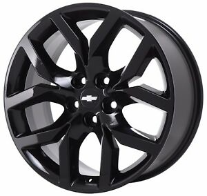 19 Chevrolet Impala Ltz Midnight Gloss Black Wheel Rim Factory Oem 5713