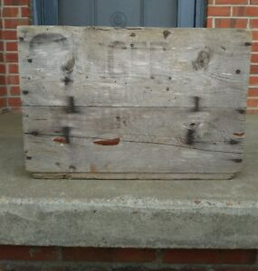 Vtg Wooden Box Singer Sewing Machines Advertising Crate Wood Barn Farm House