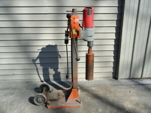 Milwaukee Core Drill Dymodrill With Stand 4 Core Bit