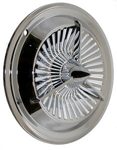 14 Polara Tri Bar Jet Turbine Fan Style Hub Cap 2 Custom Bomber Lead Sled