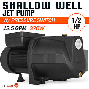 1 2 Hp Shallow Well Jet Pump W Pressure Switch 110v Farms 157 48ft Supply Water