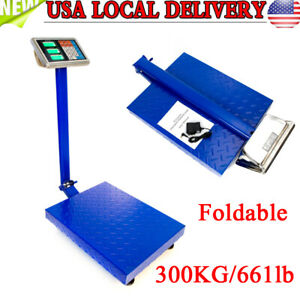 New Scales Digital Platform Postal Scale Electronic Weight 660lb 300kg 100g