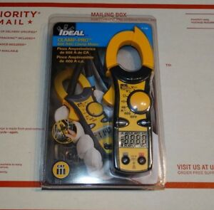 Ideal 61 744 600 Amp Clamp pro Clamp Meter New