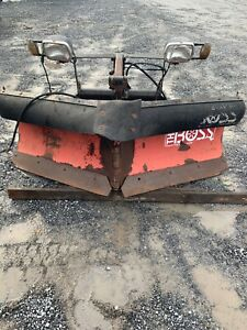 Boss Snow Plow Power V 7 Foot 6 Inches Blade Good Cutting Edge Meyers Western