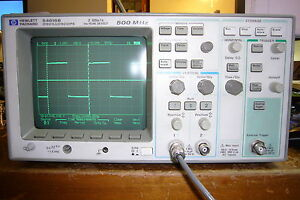 Agilent Hp 54616b Digital Oscilloscope 500mhz 2gs s w 1141a Differential Probe