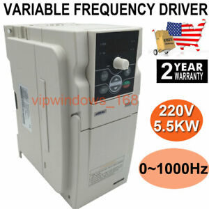 Us Ship 5 5kw 7 5hp Vfd Inverter Variable Frequency Driver 3ph 220v 0 1000hz 24a