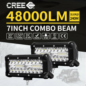7 Inch 480w Led Work Light Bar Flood Combo Pods Driving Off Road Tractor 4wd 12v