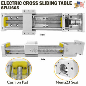 Us Manual Electric Sliding Table Sfu1605 Ballscrew Linear Rail Motion Module