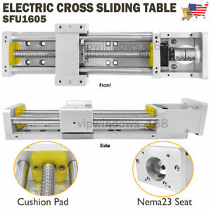 Cross Slide Linear Rail Module Sliding Table Sfu1605 Ballscrew Motion Stage us