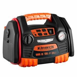 Kinverch Car Portable Jump Starter With 150 Psi Air Compressor 1000 Peak Usb