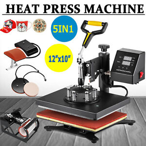Sxfm12 X 10 Swing Away Digital Heat Press Machine Transfer Sublimation T shirt