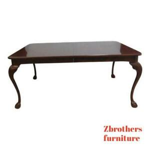 Henredon Cherry Ball Claw Chippendale Banquet Dining Table