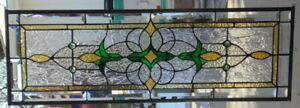 Stained Glass Transom Window Hanging 36 X 12 1 2