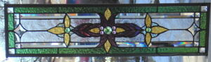 Stained Glass Transom Window Hanging 28 3 4 X 8 1 2