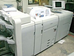 Canon Ip Color C700 Copier printer W Finisher large Pod Server Low Meter
