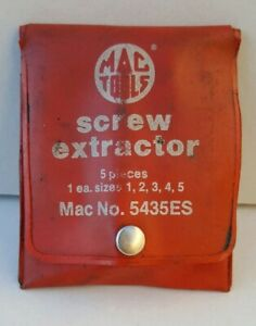 Mac Tools Screw Extractor 5 Piece Set one Is Snap on No 5435es