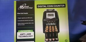Royal Sovereign Digital 4 Row Electric Coin Sorter Holds Up To 800 Coi