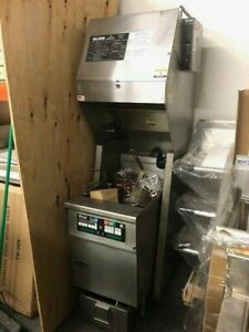 Giles Ventless Fsh 2 ph Hood System With Electric Pitco Fryer Sef184
