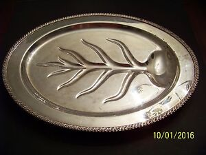 Vintage Wm Rogers Avon Silverplate Meat Tray No 3610 18 Free Shipping 3lb