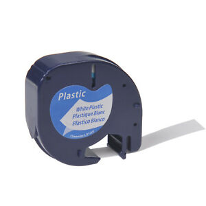 20pack Plastic Label Tape For Dymo Letra Tag Lt 91331 Black On White