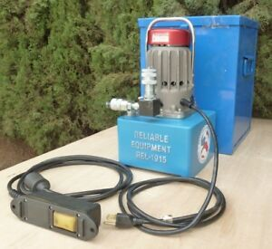 Electric Hydraulic 10 000 Psi Single acting Pump W Remote Case Rel 1915