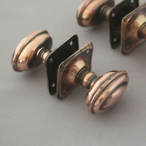 1920s 30s Copper Door Knobs