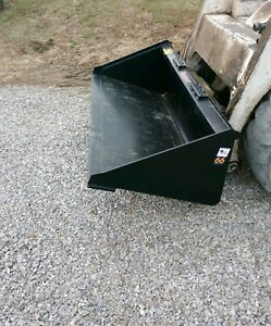 New unused 66 Smooth Bucket For Skid Steer Loaders Ssl Quick Attach Shipping