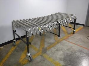 Best Flex 28 Wide X 20 Roller Expanding Portable Roller Conveyor Up To 75 Long