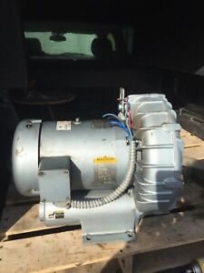 Gast 5 5 Hp Regenair Regenerative Blower 280cfm 60hz Model R6p355a 2 Npt