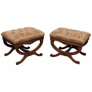 Pair Of Regency Style X Benches