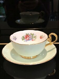 Beautiful Condition Collectible Antique English Tea Cup Set By Royal Grafton