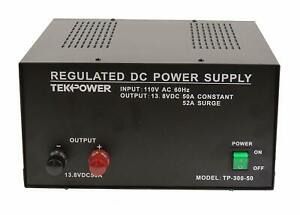 Tekpower Tp300 50 50 Amp Dc 13 8v Regulated Power Supply With Fuse Protection