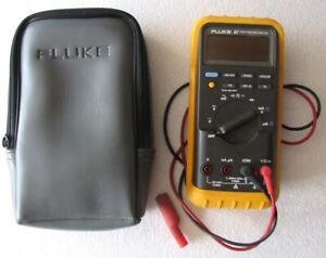 Nice Fluke 87 True Rms Multimeter W Test Leads excellent Condition