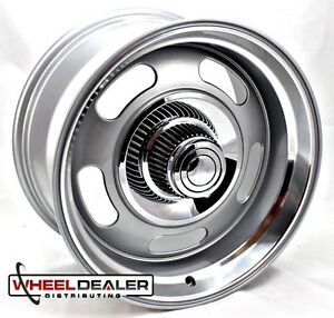 1 17x7 Aluminum Gray Rev Classic 107 Rally Wheel Chevy 5 Lug Classic Car
