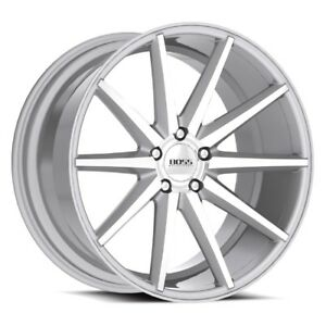 20x8 5 5x114 3 Boss Motorsports 352 Diamond Cut Silver 20 Rims Multiple Spokes