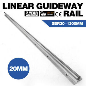 1x Sbr20 1300mm Supported Linear Rail Shaft Slide Guide Chrome plated Bearing