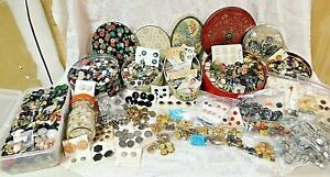 Antique Vtg Button Lot Sorted Strings Cards 3000 Buttons 33 Lbs Free Shipping