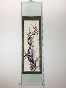 Beautiful Chinese Plum Blossoms Color Hand Painting On Paper Scroll Silk 70 5