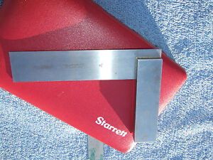 Starrett No 20 4 1 2 Vintage Square With Case Toolmaker Machinist Usa Squares