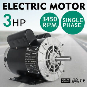 Cm03256 Electric Motor 3 Hp 3450 Rpm 115 230 V Single phase