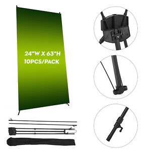 10pcs X Banner Stand 24 X 63 Trade Show Display Wholesale Foldable Pop Up
