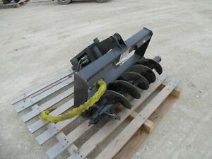 Auger And 12 Bit Skidsteer Attachment 2015 Wildkat Universal Quick Attach