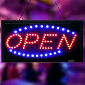 Open Sign Fitnate Led Advertise Board Electric2 Modes Flashing Shop Bar Hotel