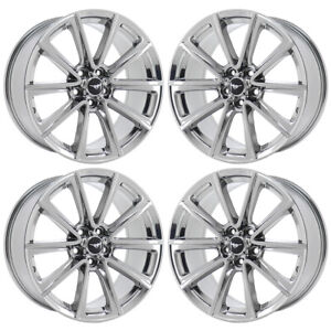 19 Ford Mustang Pvd Chrome Wheels Rims Factory Oem Set 4 10031