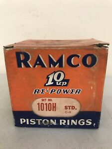 Nos Box Of Ramco Piston Rings 10 Up Re Power 1010h Std 6 Sets Antique Car Parts