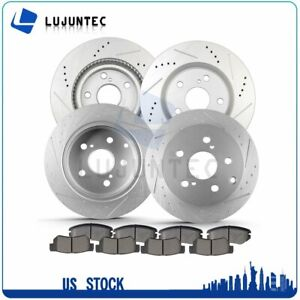 Front And Rear Discs Brake Rotors And Ceramic Pads For Toyota Rav4 2006 2012 V6