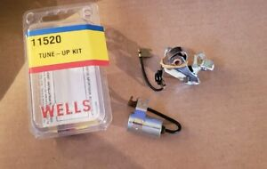 Ignition Breaker Contact Points And Condenser Kit Wells 11520